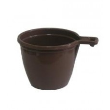 Чашка кофейная 180 мл коричневая (уп45шт)