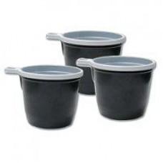 Чашка кофейная 180 мл бело-коричн (уп50шт)